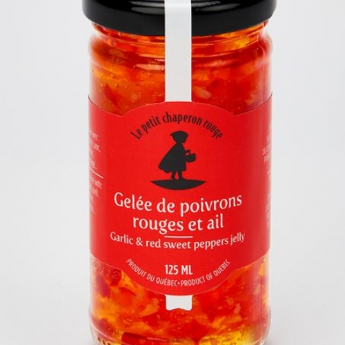 Garlic and red sweet peppers jelly
